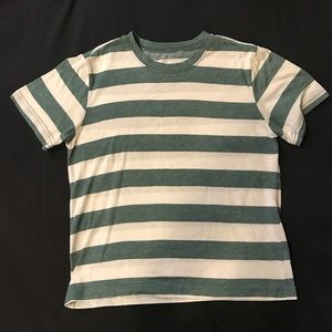 PacSun Green and White Striped Tee